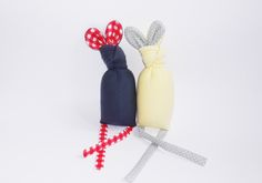 Image of BUNNY RATTLE, dark grey/yellow