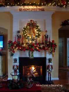 Decorating: Christmas Mantel- that's how you TASTEFULLY do nutcrackers.................................