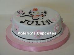 Valeria´s Cupcakes: Kitty en el cumple de Julia