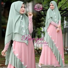 Zevania, Olshop Fashion, Olshop Muslim on Carousell Muslim Women Fashion, Indian Fashion Dresses, Indian Gowns Dresses, Abaya Fashion, Dress Neck Designs, Designs For Dresses, Long Dress Patterns, Beautiful Dress Designs, Kids Gown