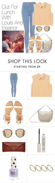 """""""Out For Lunch With Louis And Eleanor"""" by onedirectionimagineoutfits99 ❤ liked on Polyvore featuring Topshop, Monki, Mulberry, Ray-Ban, Dogpile and ASOS"""