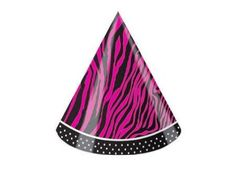 Creative Converting Pink Zebra Boutique Child Size Birthday Party Hats, 8 Count - List price: $6.99 Price: $5.32