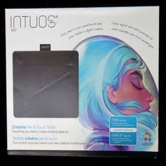 Wacom Intuos Accessories   Wacom Intuos Art Pen & Touch Tablet Priced Cheap   Color: Black   Size: Os