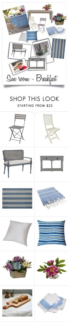 """Dream sunroom - Breakfast"" by shistyle ❤ liked on Polyvore featuring interior, interiors, interior design, home, home decor, interior decorating, Dot & Bo, Theo & Joe, Doormat Designs and Nearly Natural"