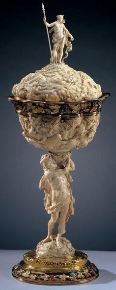 ivory cup from VIenna, XVIII century, XVIII century