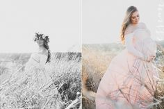 Natural light, Fine art Maternity photography by:Heather Essian  Film inspired, husband and wife, flower crown, expecting mother
