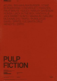 Pulp Fiction Products.