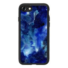Watercolor Galaxy A - iPhone 7 Case And Cover ($40) ❤ liked on Polyvore featuring accessories, tech accessories, phone cases, electronics, phone, phonecases, iphone case, apple iphone case, clear iphone case and iphone cases