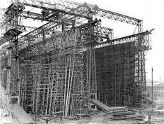 The Hull construction of the Titanic. Awesome!