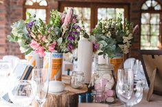 Reloading tins, marshmallows, candles, penny gum and protea love. Diy Wedding, Wedding Decor, Wedding Day, Marshmallows, Tins, Candles, Table Decorations, Photography, Home Decor