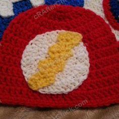 The Flash Superhero Beanie Hat ~ free pattern