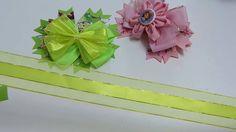 Moño doble elegante con flores en punta, Lazos dobles perfectos de listo...