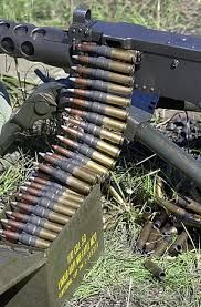 A close up of Caliber mm) Browning Ball Ammunition loaded onto a Browning HB caliber heavy machine Military Weapons, Weapons Guns, Guns And Ammo, Browning, Rifles, Heavy Machine Gun, Machine Guns, Armed Conflict, Assault Rifle