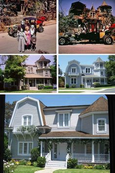 The Munster's House over the years Munsters House, Munsters Tv Show, The Munsters, Great Tv Shows, Old Tv Shows, Comedy Tonight, Lily Munster, Creature Feature, Honey