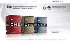 Nike Golf One Ball Family - Tofslie Inc. | The Creative Studio of Edwin Tofslie - Creative Direction, Art Direction, Ideas, Design, Interactive, Web and Maker of Fine Jerky.