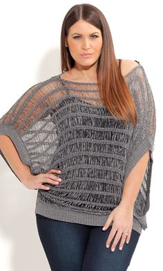 City Chic METALLIC TAPE JUMPER -Women's Plus Size Fashion