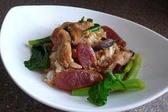 Blue Apocalypse...: Chinese Sausage, Shiitake Mushroom and Chicken Rice Claypot