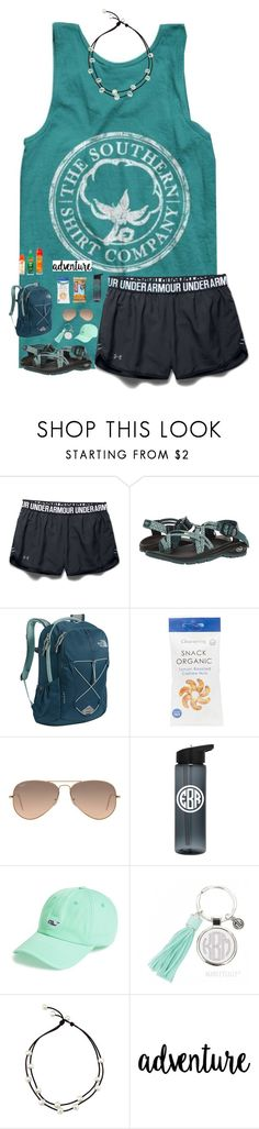 """""And into the forest I go, to lose my mind and find my soul."""" by preppy-southerngirl ❤ liked on Polyvore featuring Under Armour, Chaco, The North Face, Ray-Ban and Vineyard Vines"