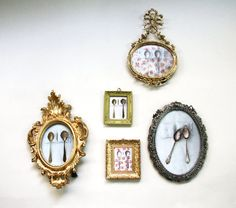 OOAK tiny Vintage Upcycled Miniature Gold Frame and by petekdesign, $ ...