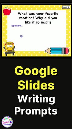 Distance Learning is easy with 50 Google Slides digital writing prompts allowing students to type in the text box on each card. This Google Classroom activity is an engaging way to get your students writing. Google Interactive products increase student engagement and are a perfect way to infuse technology into your classroom. #TeacherFeatures #TpT #writingcenter #GoogleClassroomWriting #DistanceLearningTpT #distancelearning #2ndgradewriting #writingcenter #googleclassroomelementary