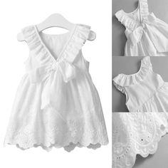 Puseky Kids Baby Girl Beach Dresses Tops Bow Party Cute Sleeveless Ball Gown Bowknot Dress Clothes Girls New Outfit Girl Princess Dress Kids Wedding Party Pageant Formal Sundress Clothes in Clothing, Shoes & Accessories, Baby & Toddler Clo Princess Tutu Dresses, Baby Girl Party Dresses, Princess Dress Kids, Little Dresses, Little Girl Dresses, Dress Party, Little Girls White Dress, Baby Princess, Baby Party