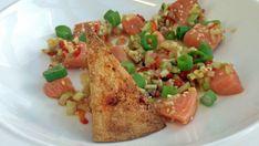 Rockekokkens vri på poke Frisk, Ceviche, Sashimi, Pasta Salad, Hawaii, Meat, Chicken, Ethnic Recipes, Food