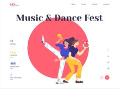 Landing page - MDFest No one says that your web page design requirements to make Interaktives Design, Logo Design, Web Ui Design, Design Poster, Web Design Trends, Branding Design, Website Design Inspiration, Best Website Design, Website Design Layout