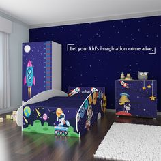 Give your kids the chance to stylize their own space with exciting themes designed especially for kids. Keep it simple with Rentickle! Kids Bedroom Furniture, Bedroom Decor, Interior Styling, Interior Design, Jungle Safari, Keep It Simple, Spaceships, Kid Styles, Home Staging