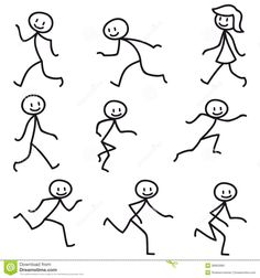 Stick Man Stick Figure Happy Running Walking - Download From Over 58 Million High Quality Stock Photos, Images, Vectors. Sign up for FREE today. Image: 38950966