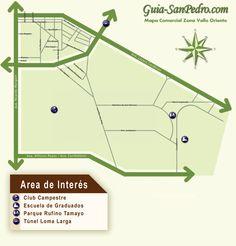Mapa:Zona Valle Oriente Guia-SanPedro.com   otoño 2013