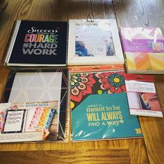 Latest haul from @erincondren. I'm very impressed. I ordered on Friday; received on Wednesday & I'm in England! Brava #erincondren #planneraddict #erincondren #eclp #notebook #dividers #storagefolders @stationerybydefault