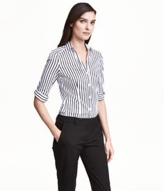 Cotton Blend Small Check Business Shirt Slim Fit | Proffsport AS