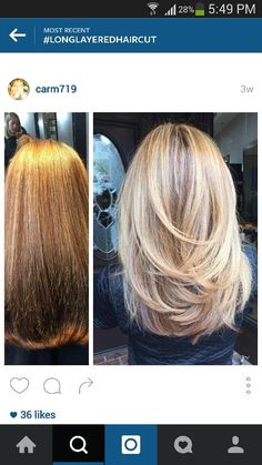 Long Layered Hair Pics You Have to See Medium Layered Haircuts, Medium Hair Cuts, Long Hair Cuts, Medium Hair Styles, Short Hair Styles, Medium Length Hair With Layers Straight, Blonde Long Layers, Blonde Layered Hair, Hair Affair