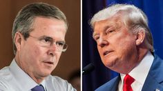 """July 8, 2015 -   Trump mocks Bush over Common Core, immigration - Donald Trump ratcheted up the war of words with Jeb Bush on Tuesday, calling the former Florida governor's support for Common Core education standards """"pathetic"""" and his stance on immigration """"baby stuff."""" -"""