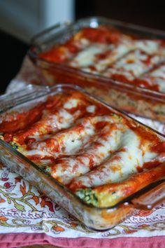 Butternut Squash & Spinach Manicotti Recipe from @aggieskitchen