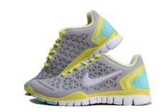 promo code f788b 62510 Womens Nike Free TR Fit 2 Wolf Grey Yellow Mint 487789 074 Discount Nike  Shoes,