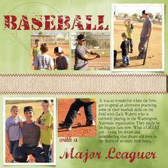 Baseball scrapbook page Stampin' Up! MDS Jeanna Bohanon