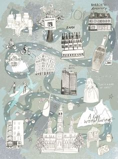Map by Livi Gosling for Jolly Edition