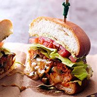 BHG's Newest Recipes:Chorizo-Chicken Burger Recipe