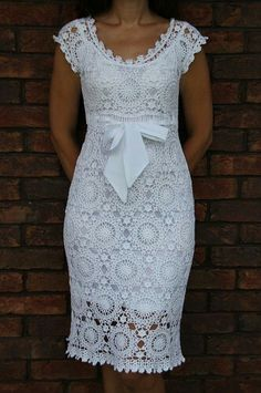 White lace summer pencil dress. Kanyget fashions +