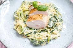 Healthy Food, Healthy Recipes, Spaghetti, Lunch, Meat, Chicken, Dinner, Ethnic Recipes, Basil