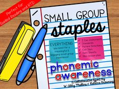 Small Group Staples: Phonemic Awareness for Guided Reading and RTI
