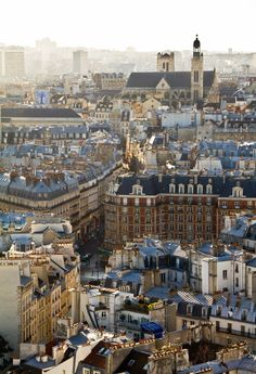 Paris rooftops, France