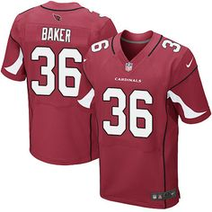 Nike Cardinals #36 Budda Baker Red Team Color Men's Stitched NFL Elite Jersey