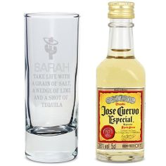 Personalised Tequila Shot Glass and Miniature Tequila  from Personalised Gifts Shop - ONLY £10.99