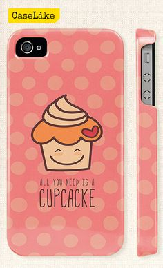 3D #iPhone 5 #Case  Lovely #Cupcake On Pink Polka dot by #caselike, $22.00