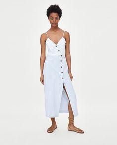 Εικόνα 4 του ΡΙΓΕ ΦΟΡΕΜΑ ΜΕ ΚΟΥΜΠΙΑ από Zara Καλοκαιρινά Φορέματα 70985d04da8