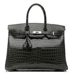 Hermes black crocodile Birkin 35cm~ One of my many DREAM HANDBAGS~ Miss Millionairess