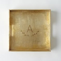 Square Monogrammed Tray, $34 | West Elm