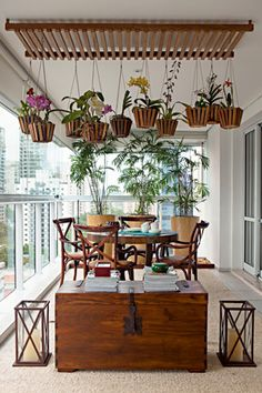 Going with Perfection by Decorating House with Hanging Orchids www.goodnewsarchi… Going with Perfection by Decorating House with Hanging Orchids www. Terrace Garden, Indoor Garden, Indoor Plants, Home And Garden, Hanging Orchid, Hanging Plants, Balcony Design, Outdoor Living, Outdoor Decor